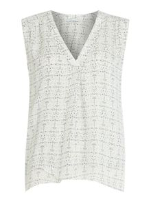 Repeat Cashmere Sleeveless printed top