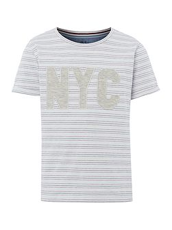 Boys Fine Stripe NYC T-shirt