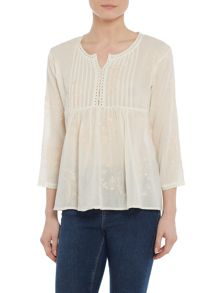 Repeat Cashmere Embroidery long sleeve top