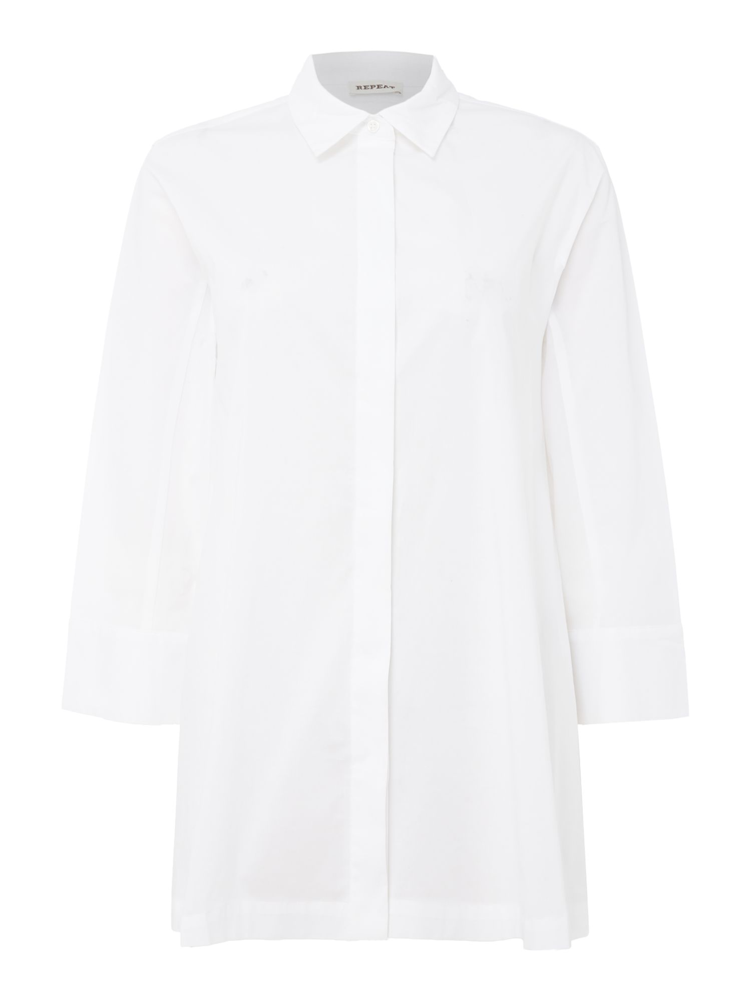 Repeat Cashmere Cotton elastane shirt, White
