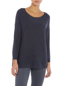 Repeat Cashmere Ribbed bottom jumper