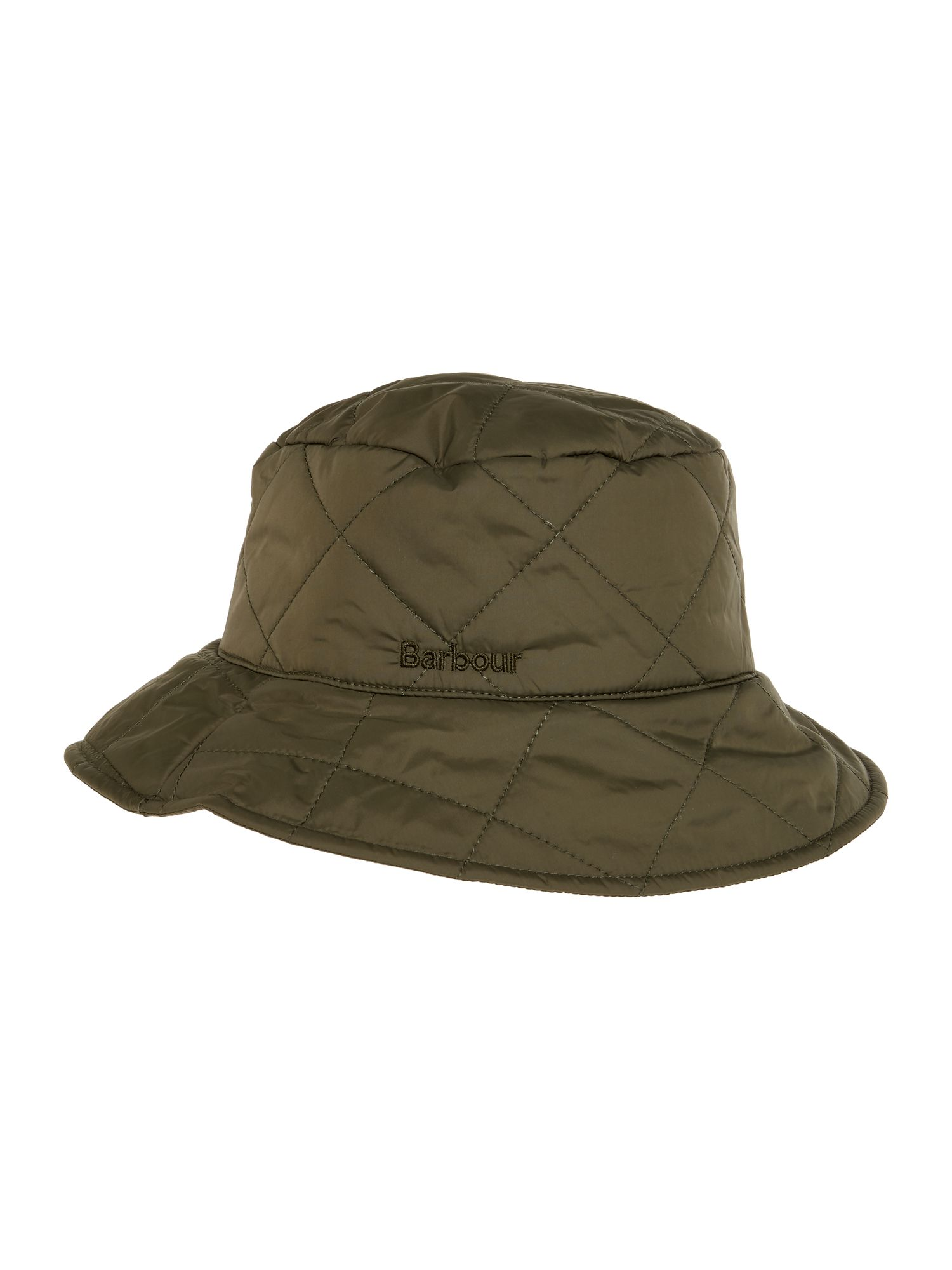Barbour Quilted Bucket Hat Olive
