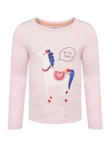 Joules Girls Horse Long Sleeve Tshirt