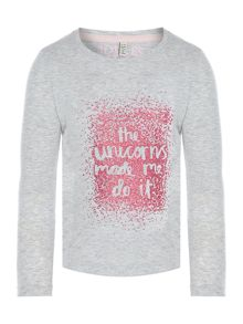 Joules Girls Unicorn Long Sleeve Tshirt