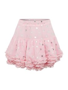 Joules Girls Spot Frill Tutu Skirt