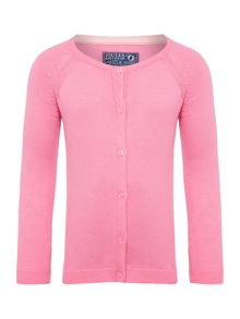 Joules Girls Knitted Long Sleeve Cardigan