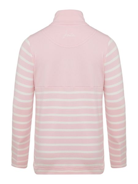Joules Girls Zip Up Stripe Jumper