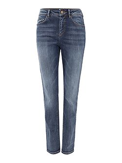 Fran Mid Rise Straight Vintage Wash Jeans