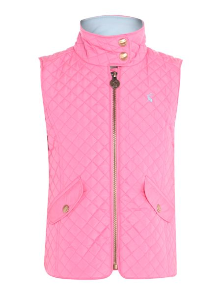 Joules Girls Zip Up Quilted Gilet