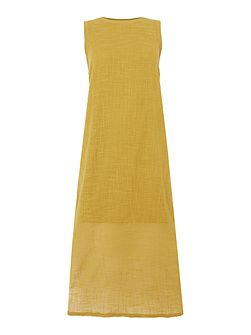 Elba sporty textured maxi dress