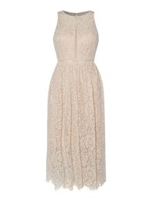 Adrianna Papell Lace dress with ladder detail