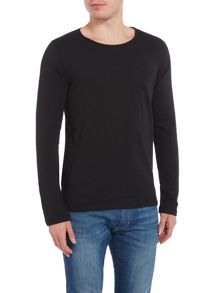 Lindbergh Long sleeve slub yarn t-shirt