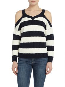 Vero Moda Sibbo Long Sleeve Cold shoulder jumper