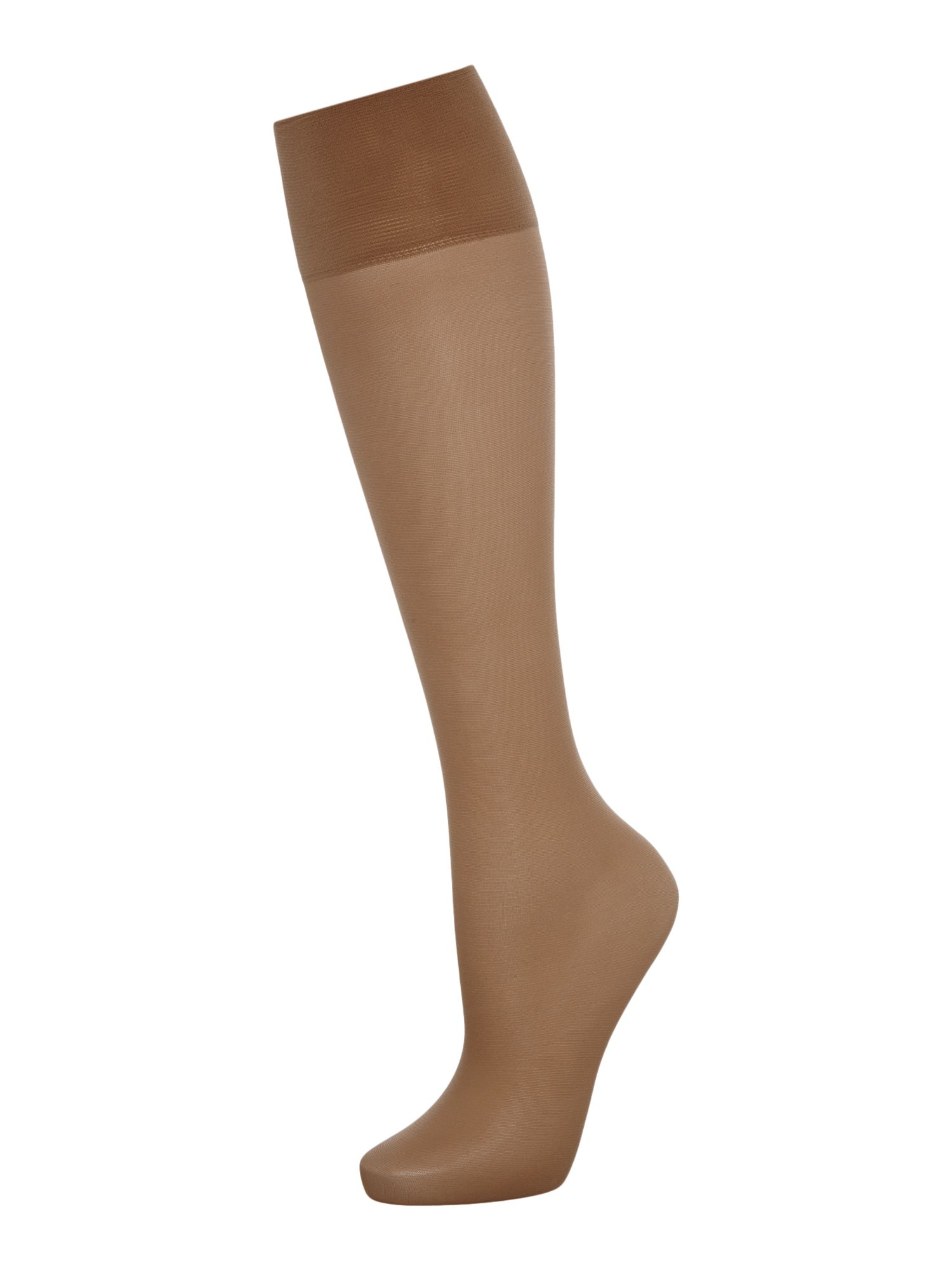 Charnos 5 Per Packet Sheer Knee High Socks Sherry