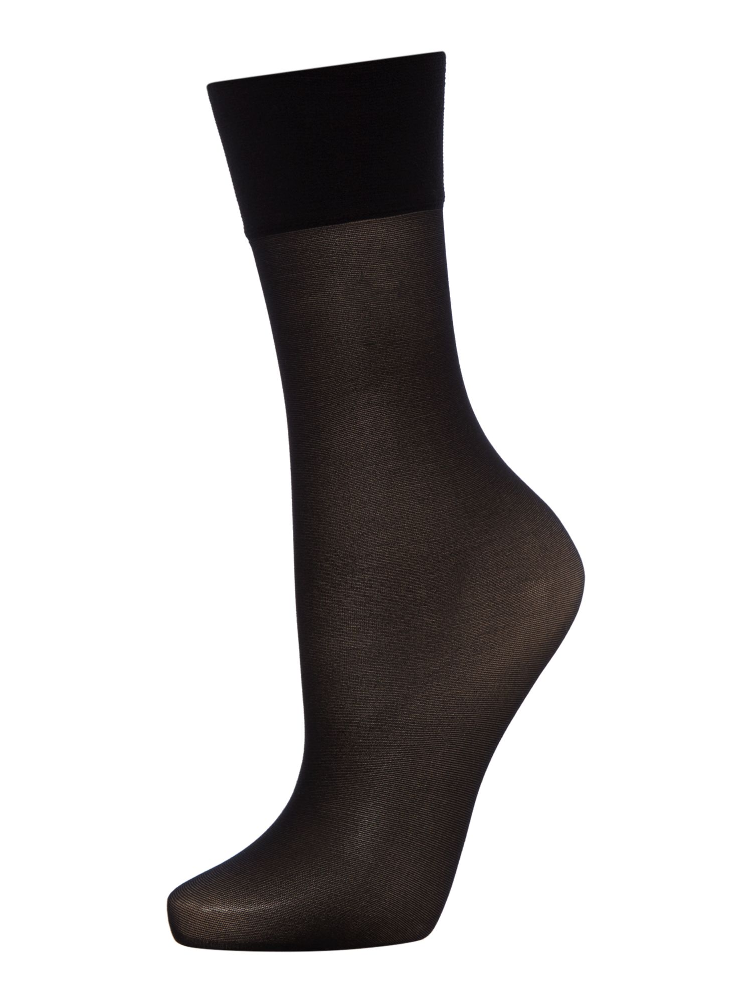 Charnos 2 Per Packet Sheer Ankle Socks Black