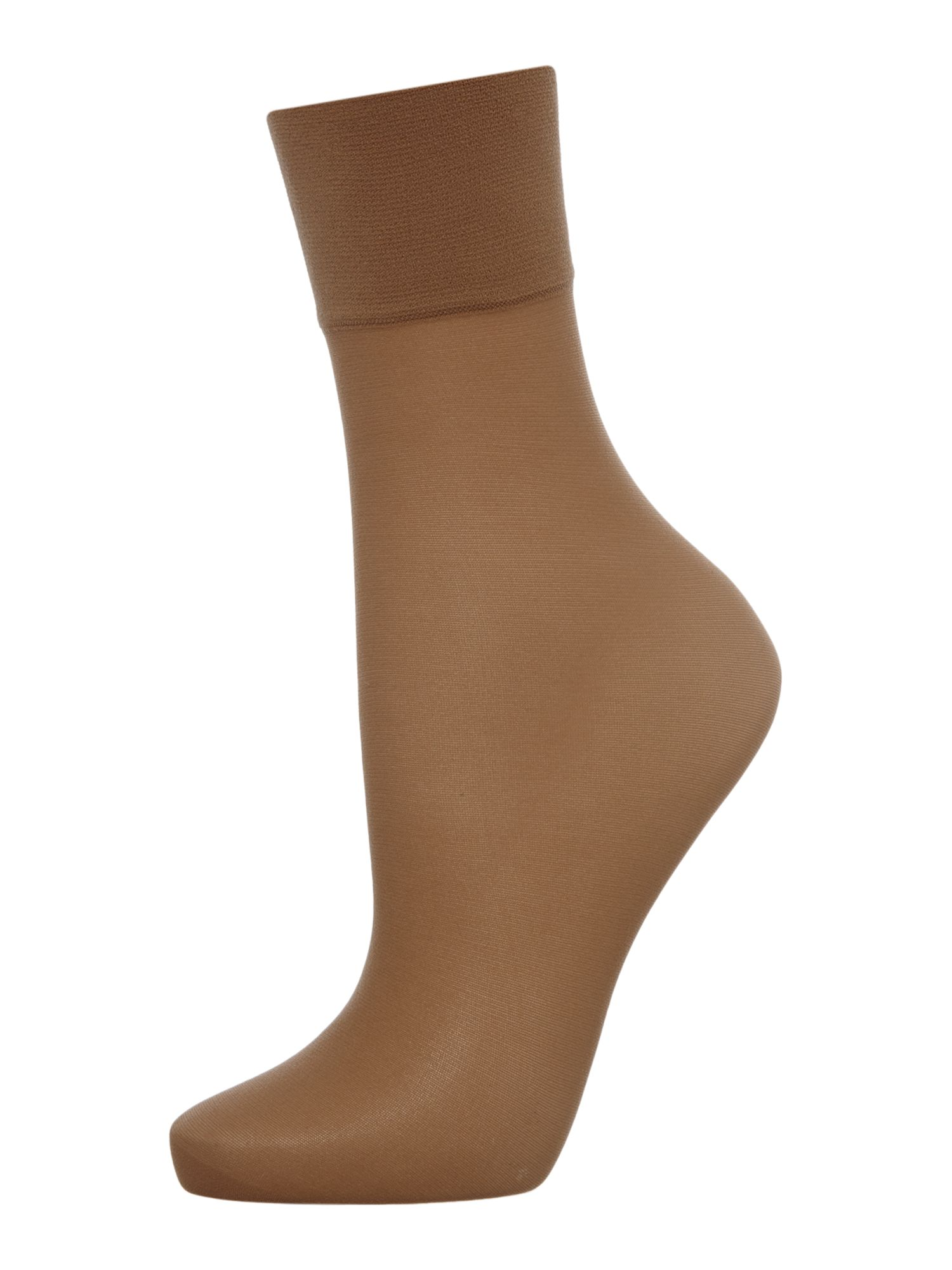 Charnos Charnos 2 Per Packet Sheer Ankle Socks, Sherry