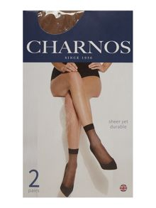 Charnos 2 Per Packet Sheer Ankle Socks