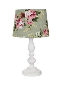 Shabby Chic Alice table lamp - sage green
