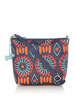 Summer tribe small ziptop crossbody bag