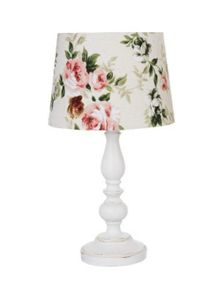 Shabby Chic Alice table lamp - cream