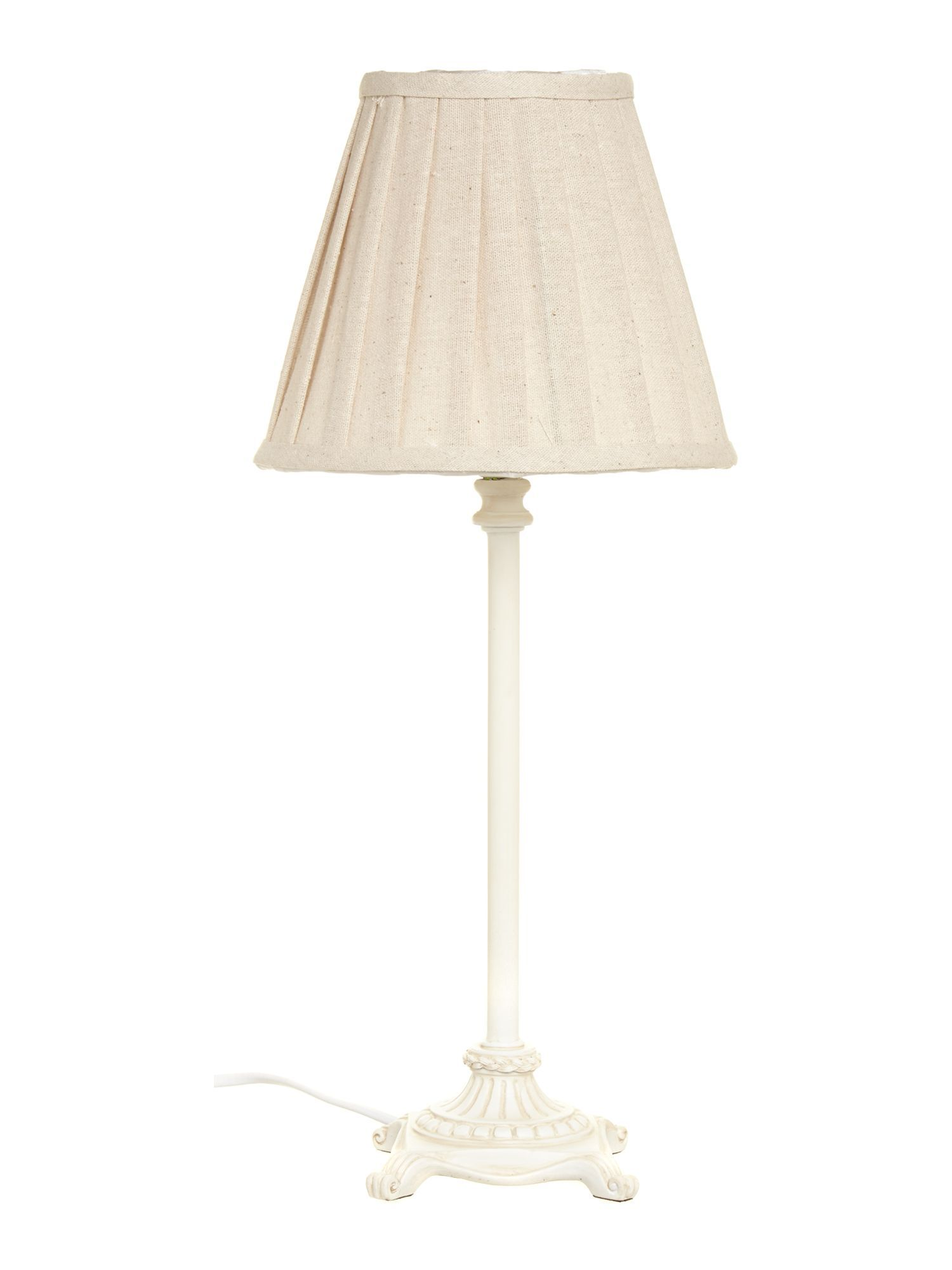 Image of Shabby Chic Bessie table lamp - natural