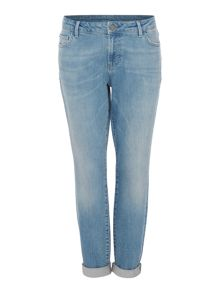Maison De Nimes Jackson Mid Rise Authentic Wash Girlfriend Jeans