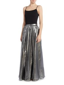 Label Lab Metallic Maxi Skirt