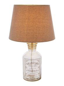 Linea Vintage bottle table lamp