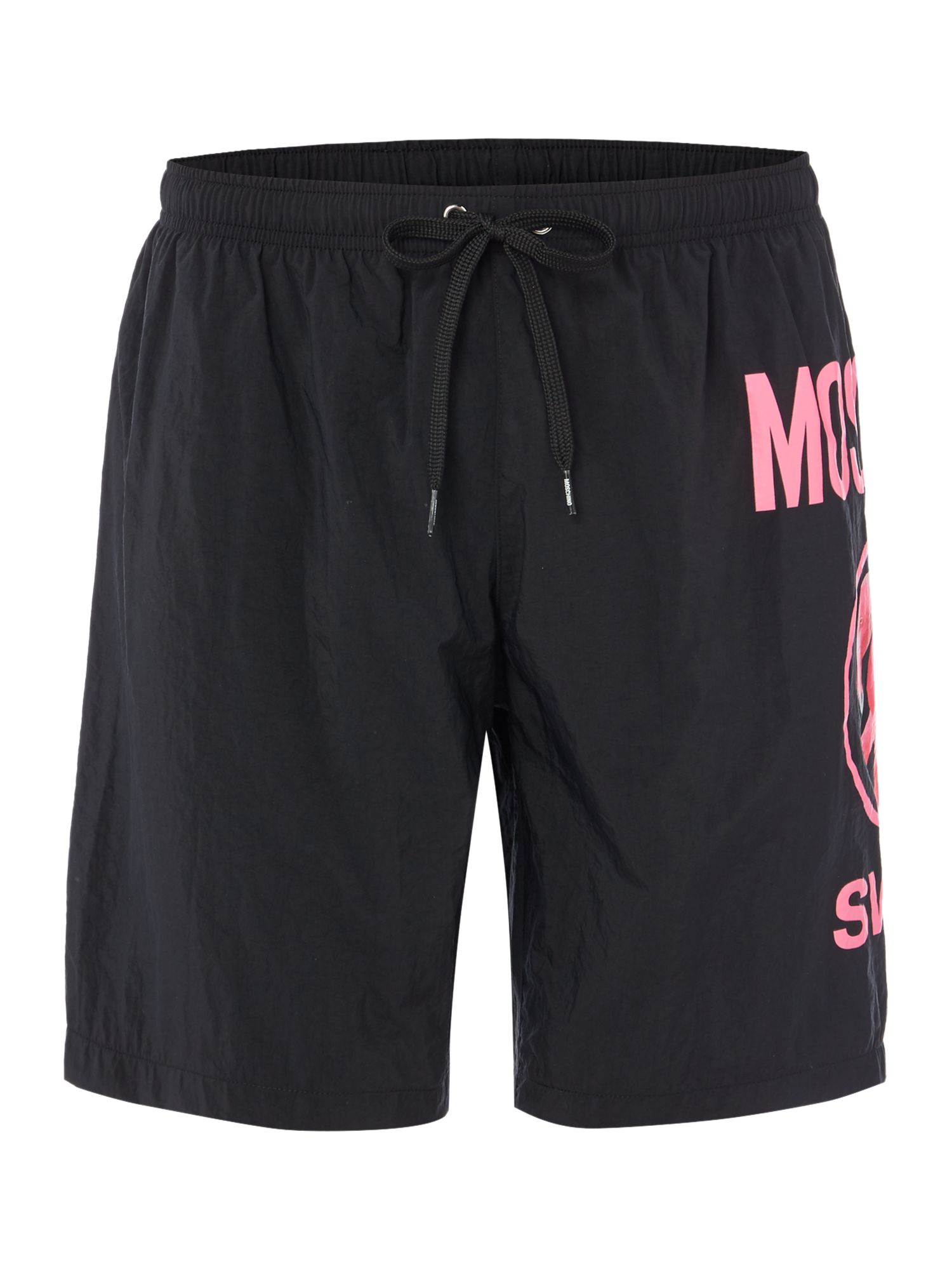 Men's Moschino Logo Swim Short, Black