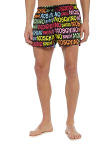 Moschino All Over Logo Swim Short