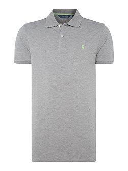 Short sleeve pro fit solid mesh polo