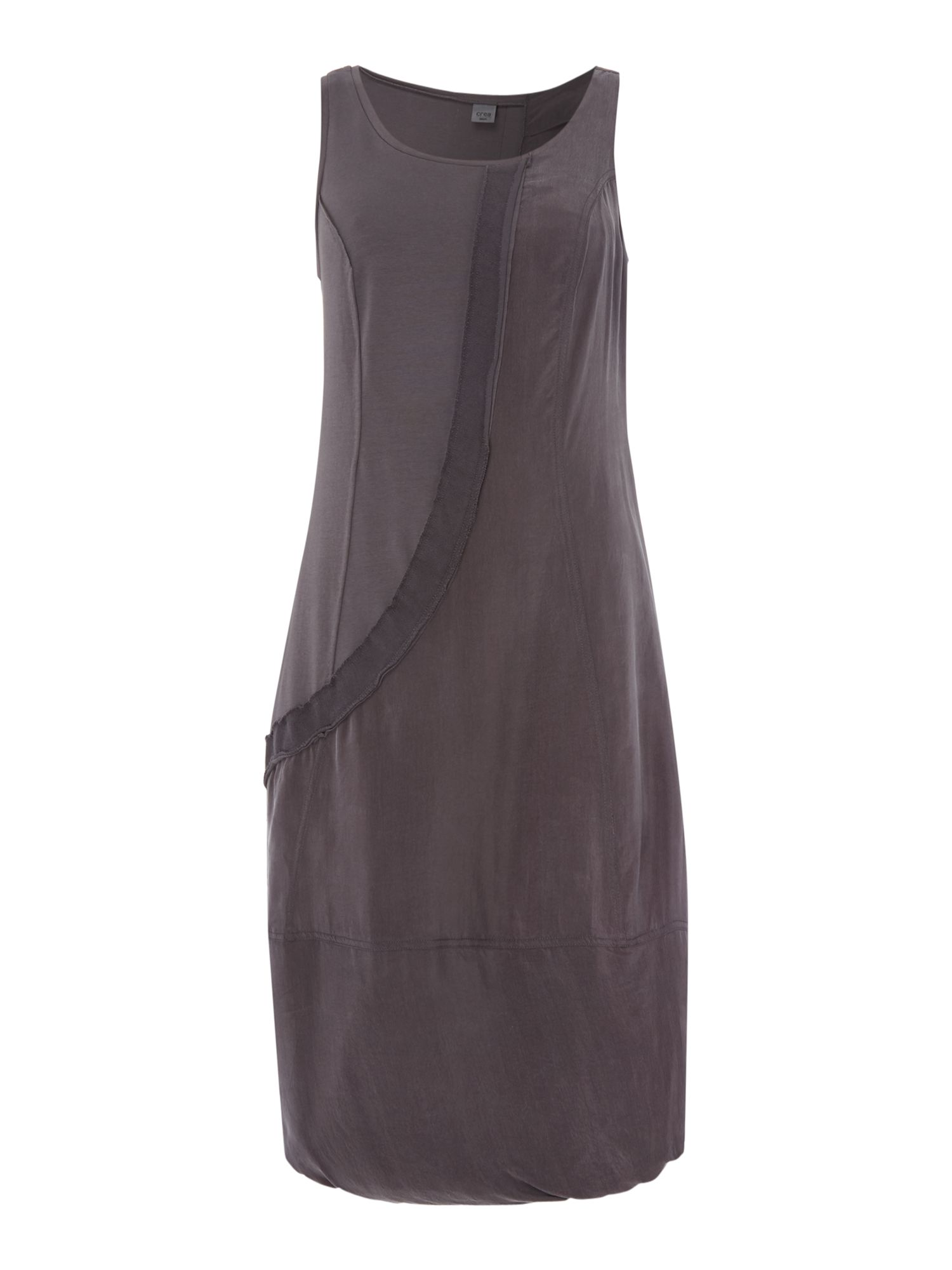 Crea Concept Seam detail jersey dress, Slate