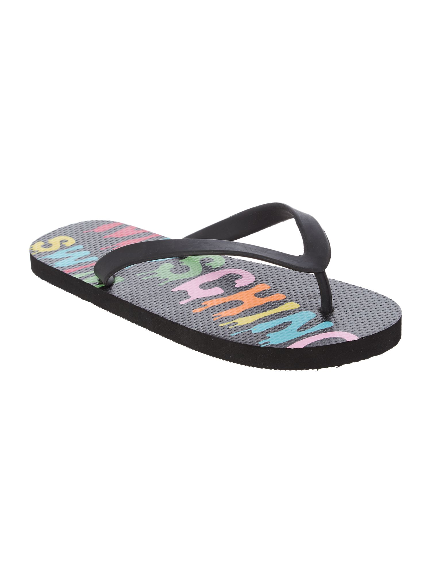 Men's Moschino Logo Flip Flop, Multi-Coloured
