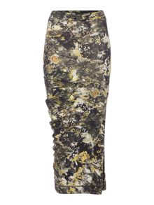 Label Lab Smokey Ikat Digi Print Jersey Skirt