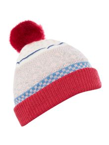 Joules Girls Fairisle Hat