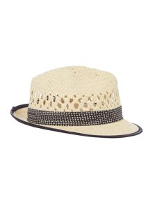 Ted Baker Straw Woven Trilby Hat