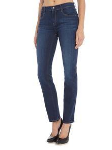 Calvin Klein Mid rise straight leg jeans in wonder dark