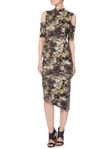 Label Lab Smokey Ikat Print Tube Dress