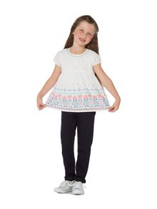 Little Dickins & Jones Girls Embroidered Blouse