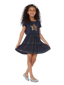 Little Dickins & Jones Girls Layered Sparkle Skirt