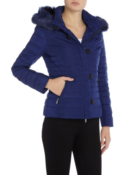 Armani Jeans Short padded jacket with removable hood