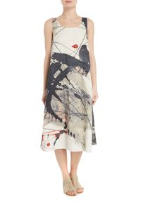 Crea Concept Abstract print sleevelss dress