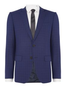 Hugo Boss Huge Genius Slim Fit Faint Tonal Check Suit