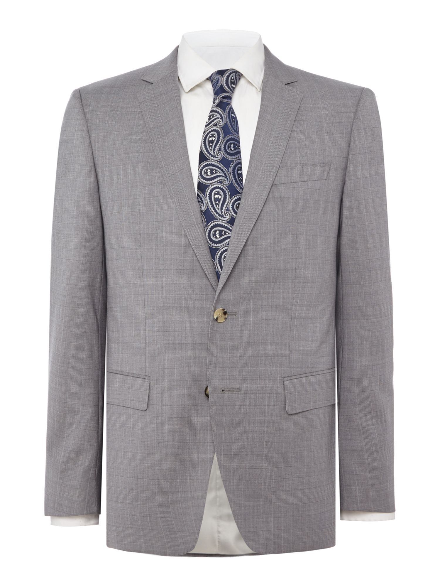 Men's Hugo Boss Huge Genius Slim Fit Prince of Wales Check Suit, Grey