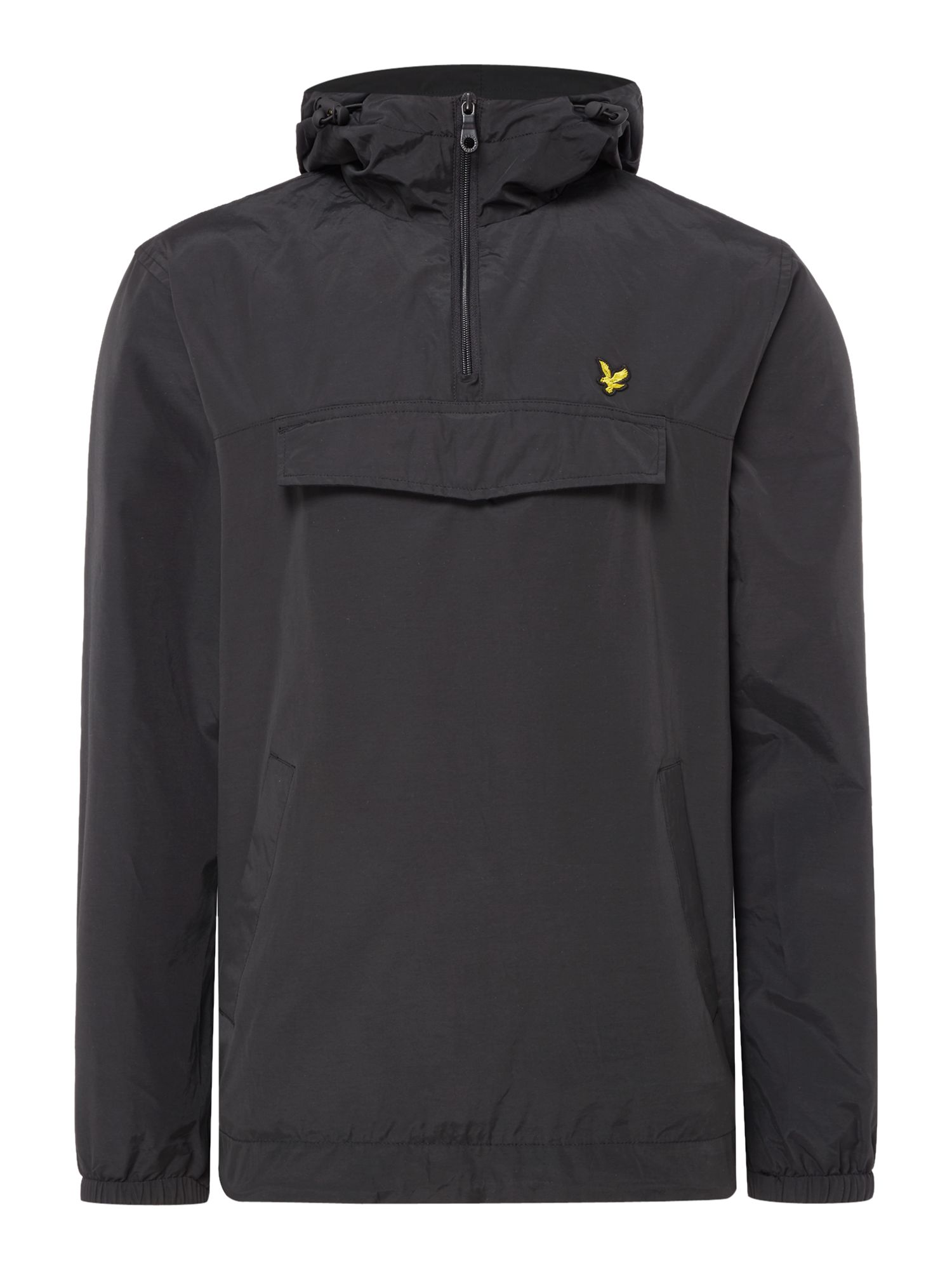 Mens Lyle and Scott Pull over anorak Black