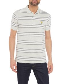 Lyle and Scott Short sleeve striped polo