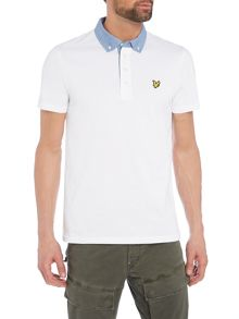 Lyle and Scott Short sleeve woven collar polo