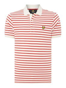 Lyle and Scott Short sleeve breton stripe polo