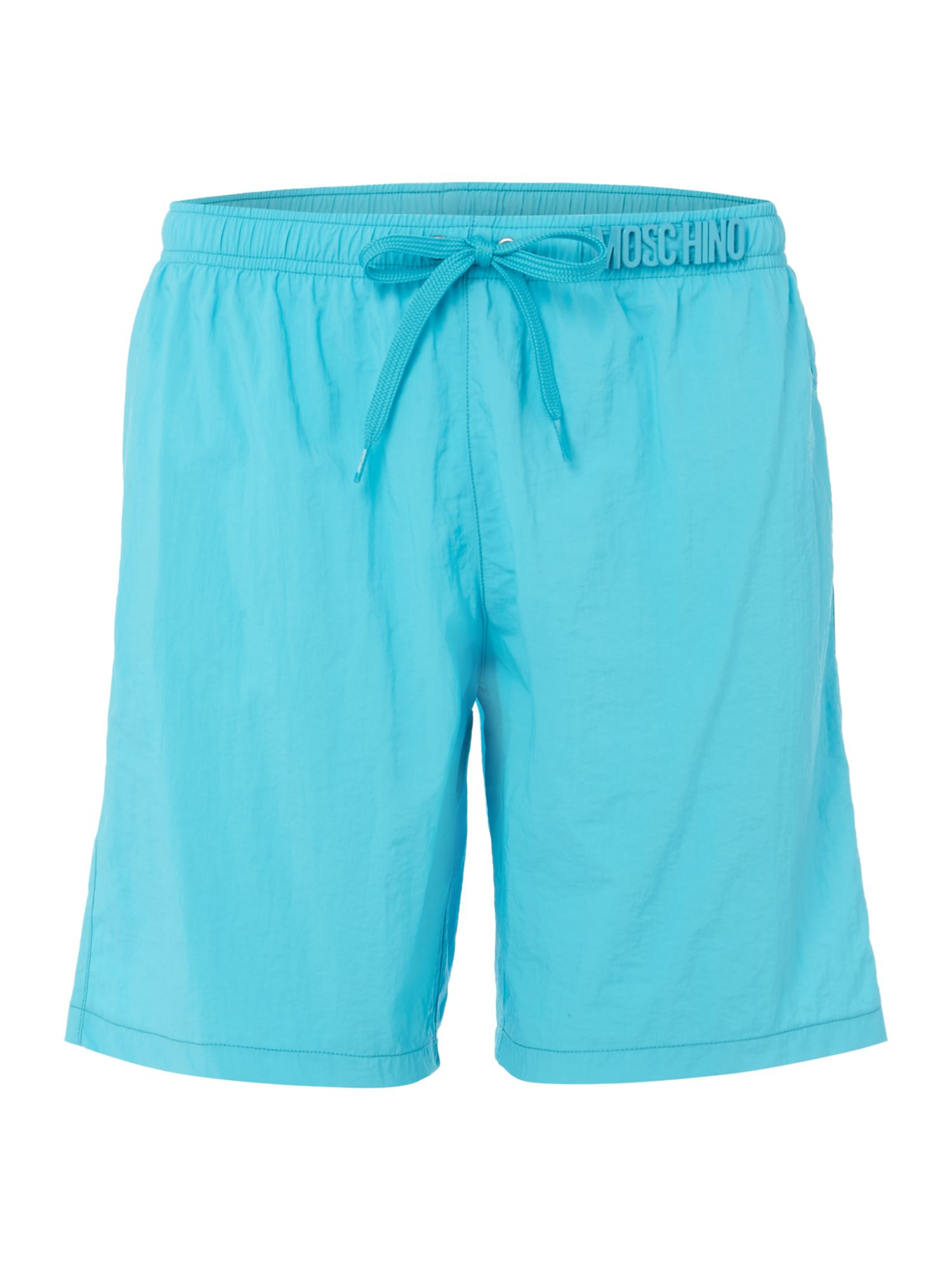 Men's Moschino Medium Plain Short, Turquoise