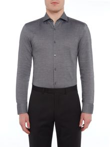 Hugo Boss Jerrin Slim Fit Contrast Textured Trim Shirt